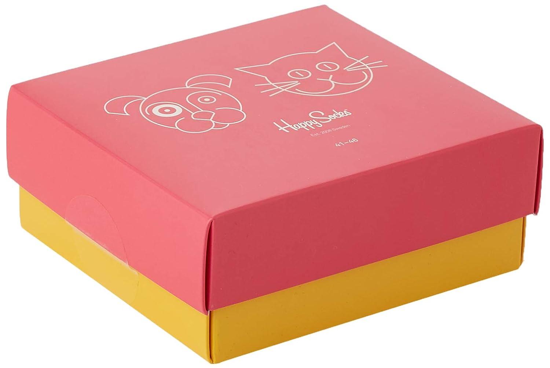 Happy Socks Cat Vs Dog Gift Box Calcetines para Hombre
