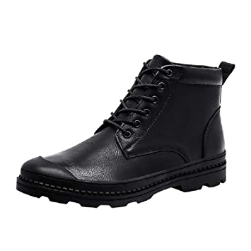 Mens Military Motorcycle Combat Boots Waterproof Tactical Work Jungle Boot (Black, US:8