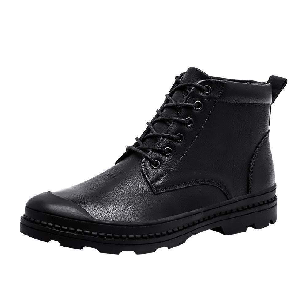 ❤ Bota Militar para Hombre, Zapatillas de Deporte Planas con Cordones de Cuero con Punta Redonda y Cuero de Ocio Absolute: Amazon.es: Ropa y accesorios