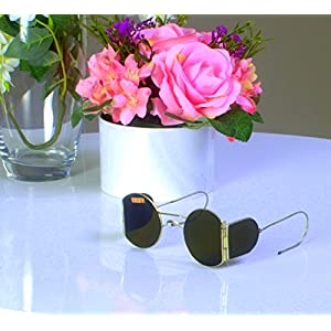 1930s New Steampunk sunglasses with side shields New Vintage sunglasses WW2 USSR Green glass lenses WOMEN'S DAY SALE