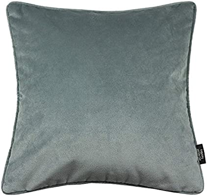Marvelous Mcalister Textiles Matt Velvet Throw Pillow With Filler In Dove Gray Square 20X20 Inches For Couch Sofa And Bed Plump And Plush Filled Toss Gmtry Best Dining Table And Chair Ideas Images Gmtryco