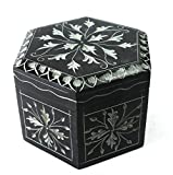 AMBA HANDICRAFT Decorative indian handcrafted marble gift box carved designer for birthday diwali anniversary with best craftsmanship jewelry accessory rings bracelet cufflinks storage as gift for her/him