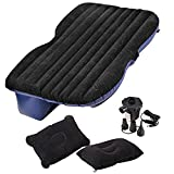 Fashion Car Travel Inflatable Mattress Air Bed U Back Seat Extended Sleep Rest with Air Pump (Blue, 135x35x40cm/52.7x13.7x15.6inch)