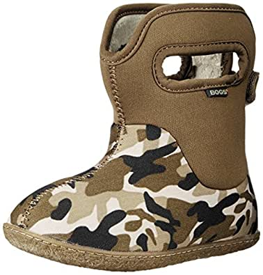 Bogs Baby Classic Waterproof Insulated Rain Boot (Infant/Toddler), Olive Camo