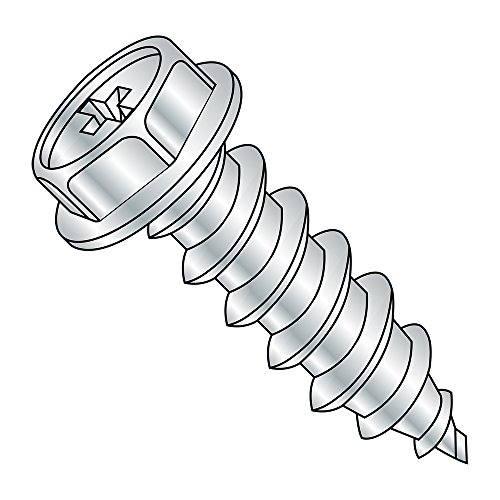 Zinc Plated Steel Sheet Metal Screw Round Washer Head 1//2 Length Phillips Drive #6-18 Thread Size Type A Pack of 100