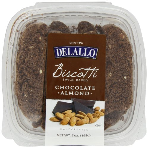 (DeLallo Chocolate Biscotti, Almond, 7-Ounce (Pack of 4))