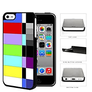 Retro TV Test Pattern Color Bars Hard Plastic Snap On Cell Phone Case Apple iPhone 5c