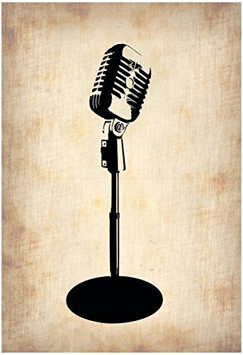 Vintage Microphone Poster by NaxArt 13 x 19in