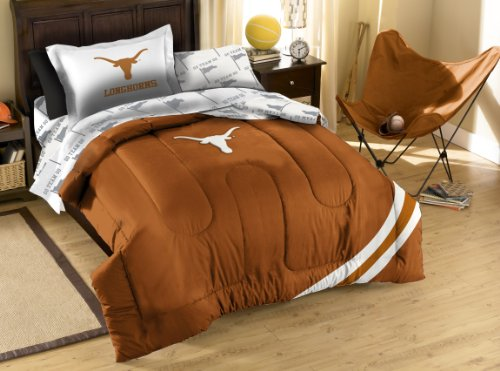 y Officially Licensed NCAA Texas Longhorns Twin Bedding Set ()