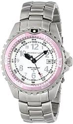Momentum Women's 1M-DV11WR0 M1 Twist Pink Bezel Steel Bracelet Watch