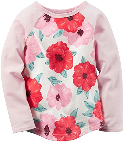 Carter's Baby Girls' Knit Fashion Top, Pink Floral, 6 Months