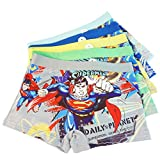 3-8 Years Old Boys Superman Boxer Briefs Hero-Themed Underwear 5 Multipack