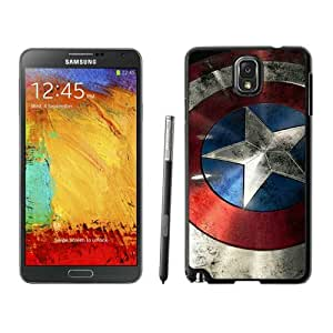 Captain America Shield Black Durable Hard Shell Samsung Galaxy Note 3 Phone Case