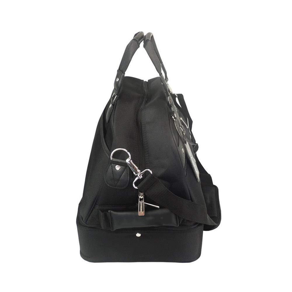 TAESOUW-Accessories Golf Clothing Bag Large Men Lightweight Gym Travel Handbag Durable Sports Duffle Bag(Blue and Black) (Color : Black, Size : Free Size) by TAESOUW-Accessories