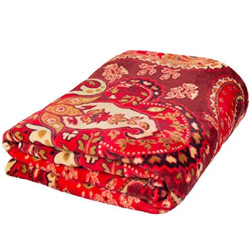 Better Homes and Gardens Ultra Soft Microfiber Fleece Decorative Throw Blanket, Merlot Paisley from Better Homes & Gardens