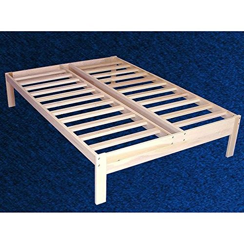 Full size Unfinished Wood Platform Bed Frame with Wooden Slats Full Size Unfinished Bed