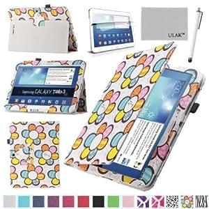 Viesrod Pandamimi ULAK(TM) Folio Slim PU Leather Cover Case for Samsung Galaxy Tab 3 10.1 P5200 P5210 Book Style Stand...