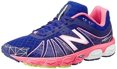 New Balance Women's W890 Neutral Light Running Shoe,Blue/Pink,6 B US