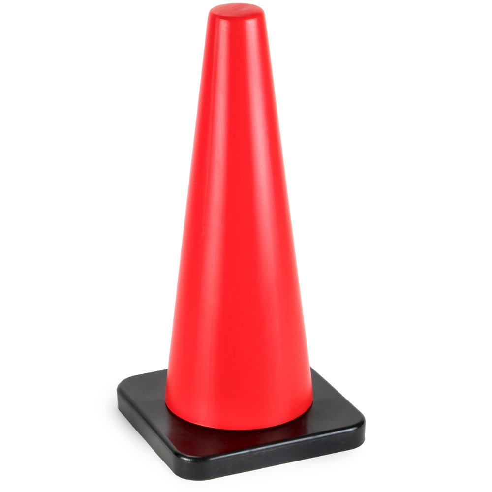 18'' High Hat Cones in Fluorescent Orange with Black Base for Indoor/Outdoor Traffic Work Area Safety Marker & Agility Sport Training by Bolthead Industrial (Single) by Bolthead Industrial (Image #1)