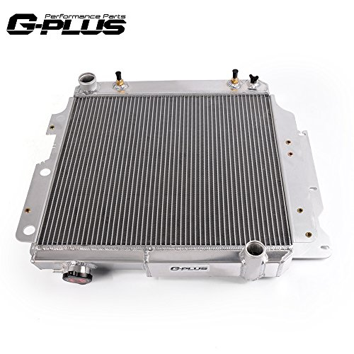 3 Row Core Full Aluminum Racing Radiator Replacement For Jeep Wrangler TJ YJ GM Chevy V8 Conversion 1987-2006 1988 1989 1992 19931996 1997 1998 2002