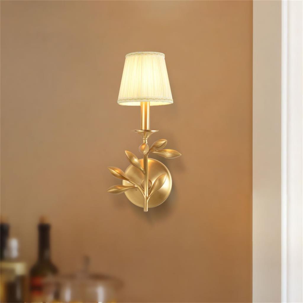 Vollständige Kupfer Wand Lampe Europäische Wand Lampe Nachttisch Lampe Schlafzimmer Nachttisch Lampe Wand Lampe Kreative Persönlichkeit Kupfer Wand Lampe