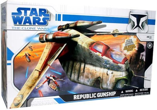 Star Wars Clone Wars Animated Series Exclusive Vehicle Republic Gunship