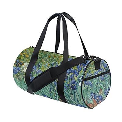 Travel Duffels Purple Waves Duffle Bag Luggage Sports Gym for Women /& Men