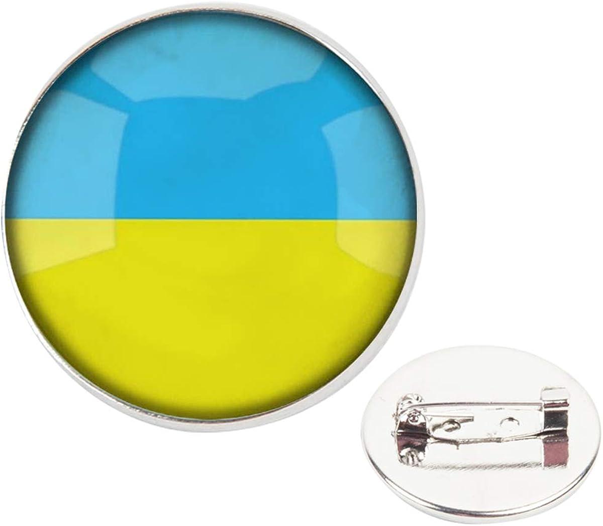 Pinback Buttons Badges Pins The Ukraine National Flag Lapel Pin Brooch Clip Trendy Accessory Jacket T-Shirt Bag Hat Shoe