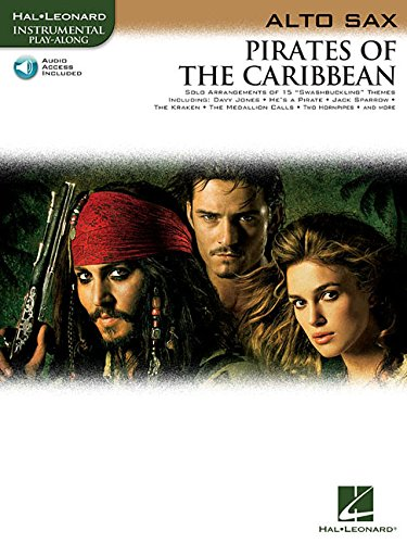 PIrates Of The Caribbean For Alto Sax Book & Online Audio (Instrumental Play-Along)