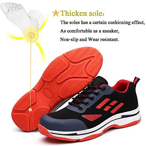 Unisexes En Baskets Avec Femme Protection Chaussure Travail rouge Acier Homme Chaussures Randonnée Sécurité Sroter 01 De Embout vYH6qTw