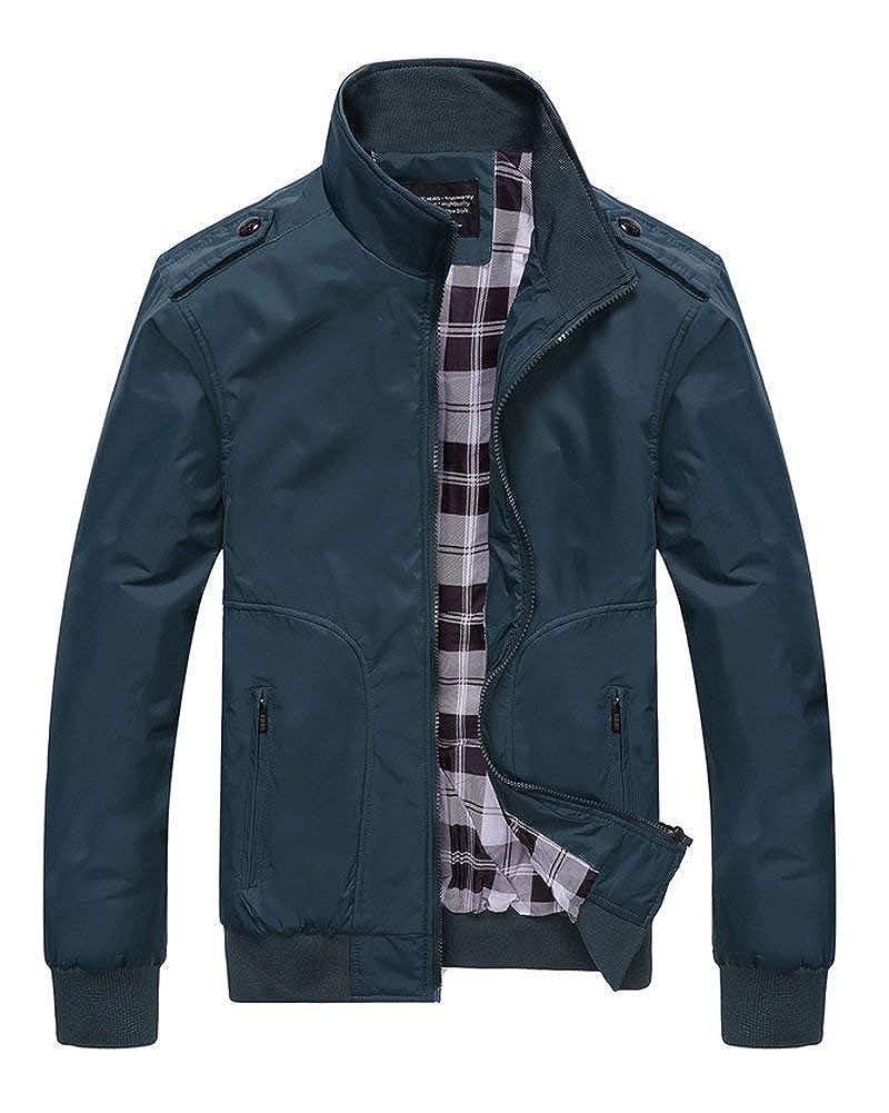 HX fashion Uomo Bomber Giacche E Uomo Sportswear Manica Taglie Comode Lunga Colletto Stand Giacca Casual Cappotto Capispalla Cappotto Abiti