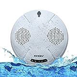 ECEEN Swimming Speaker Pool Floating Bluetooth Speakers Wireless Waterproof stereo Splashproof Shockproof Dustproof for Outdoor, Bathroom, Boat, Car, Beach, Home, Shower-IPX7 Dual 5W Audio Drives