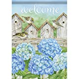 Carson Home Accents FlagTrends Classic Garden Flag, Hydrangea Fence