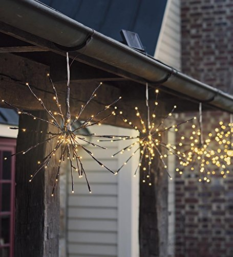 Wind & Weather LT7353 Hanging Solar Starburst Twig Lights by Wind & Weather