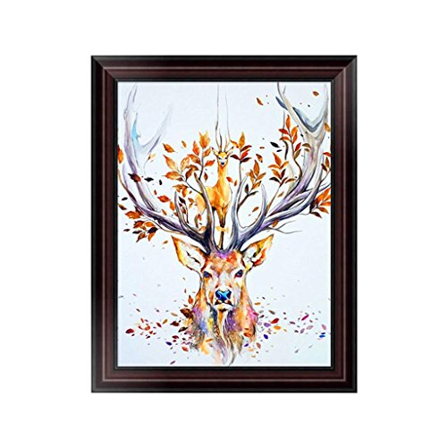 OHTOP 5D Diamond Painting,DIY Deer Embroidery Cross Stitch Craft Home Decor