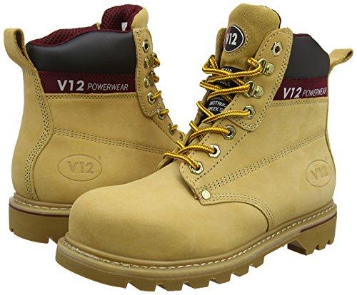 43 09 Rich Boulder Boot EU Mahogany Hide Safety Mahogany V12 UK WA8nYHZH