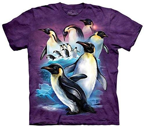 The Mountain Men's Emperor Penguins T-Shirt, Purple, X-Large
