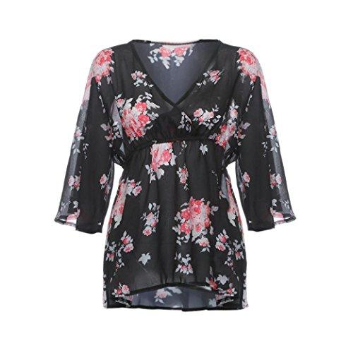OverDose mujer blusa sin hombros V cuello straped grande más blusa de tamaño talla extra camiseta V cuello