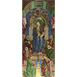 Oil painting 'Cosimo Tura The Virgin and Child Enthroned ' printing on Perfect effect canvas , 20 x 47 inch / 51 x 120 cm ,the best Nursery gallery art and Home decor and Gifts is this Amazing Art Decorative Canvas Prints