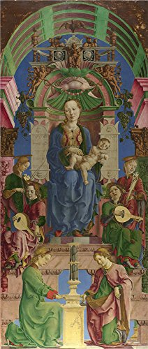 [Oil Painting 'Cosimo Tura - The Virgin And Child Enthroned,mid-1470s' 10 x 24 inch / 25 x 60 cm , on High Definition HD canvas prints is for Gifts And Game Room, Kitchen And Study Room decor,] (Costumes Halloween Yahoo)