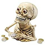 Design Toscano Bugged-Out Hungry Skeleton Cast Iron