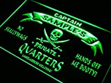 ADVPRO Name Personalized Custom Private Quarters Pirate Man Cave Neon Sign Green 24'' x 16'' st4s64-pw-tm-g