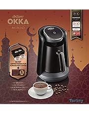 Arzum Okka MINIO turkisk kaffemaskin med mockakoppar och kaffe actionspaket