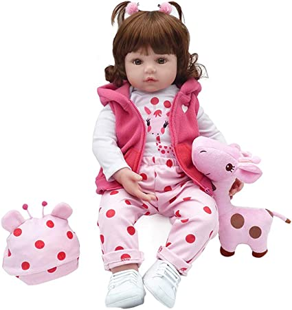 My Super Star Reborn Baby Dolls 22 inch Quality Realistic Handmade Babies Dolls Girls Soft Vinyl Silicone Lifelike Kids Gifts EN71 Certification Toys Age 3+