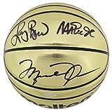 Michael Jordan, Larry Bird & Magic Johnson Signed Molten Basketball BAS &