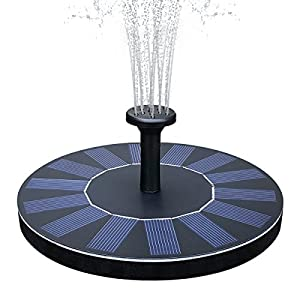 51mpjb56TjL. SS300  - Solar Bird Bath Fountain, Feelle 1.4W Solar Powered Fountain Water Pump Kit, Outdoor Floating Solar Fountain for Bird Bath, Pond, Pool and Garden Decoration