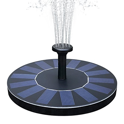 51mpjb56TjL - Solar Bird Bath Fountain, Feelle 1.4W Solar Powered Fountain Water Pump Kit, Outdoor Floating Solar Fountain for Bird Bath, Pond, Pool and Garden Decoration