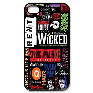 Broadway Collage, Customized Back Cover Case TPU For iphone 5s, Wholesale iphone 5 Cases