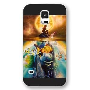 UniqueBox Customized Disney Series Case for Samsung Galaxy S5, The Little Mermaid Samsung Galaxy S5 Case, Only Fit for Samsung Galaxy S5 (Black Frosted Shell)