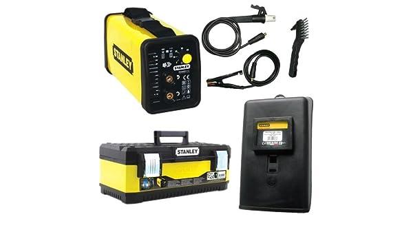 Stanley Power 100 estación de soldadura inverter w600110 + máscara + caja a herramientas, amarillo/negro: Amazon.es: Bricolaje y herramientas